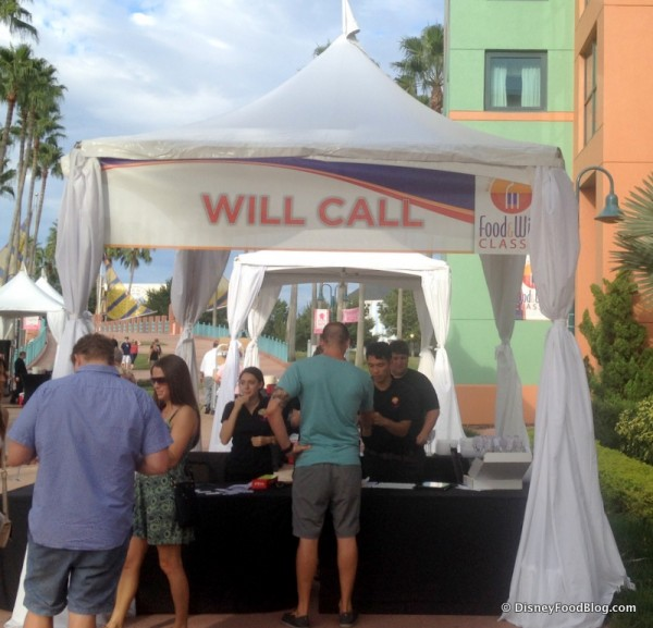 Will Call Booth