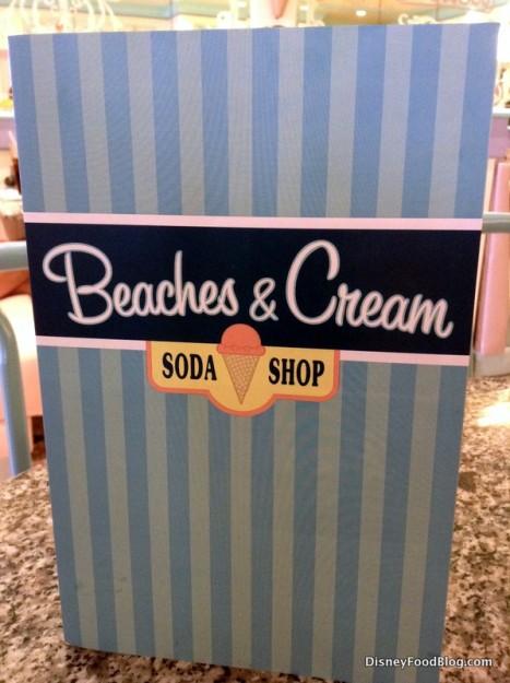 Beaches and cream menu