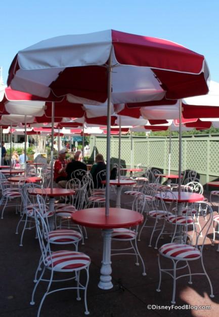 Outdoor seating by Hub refurbishment