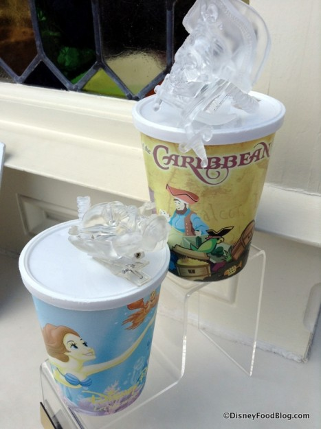 Ariel and Pirates of the Caribbean souvenir cups