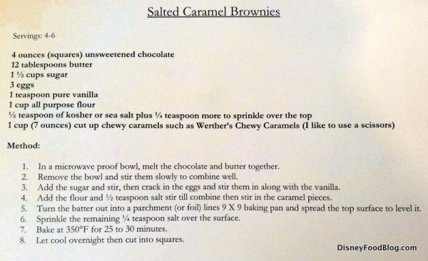 Salted Caramel Brownies recipe