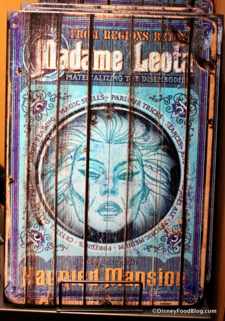 Madame Leota wooden sign