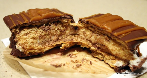 Caramel S'more cross section