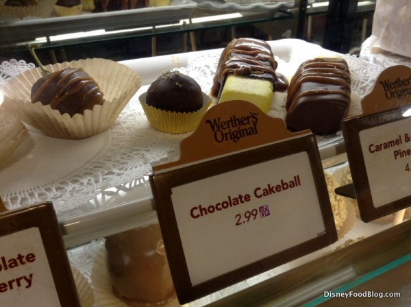 Chocolate Cakeball in bakery case