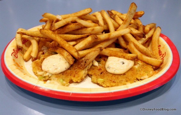 Maryland Crab Cakes with Old Bay Fries
