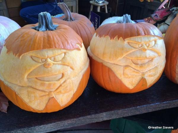 Tweedle Dee and Tweedle Dum Pumpkins