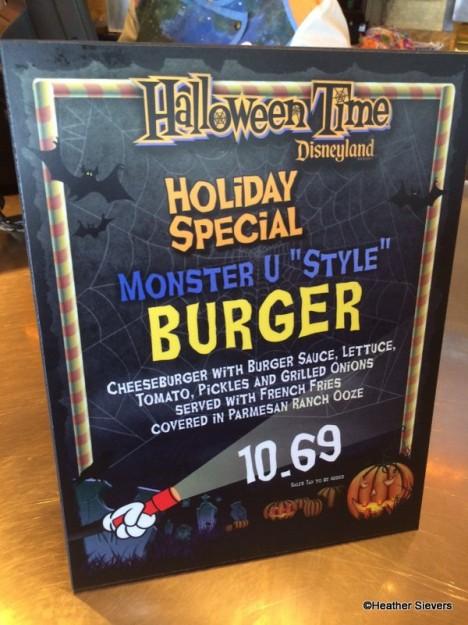 Halloween Time Monster U Style Burger Signage
