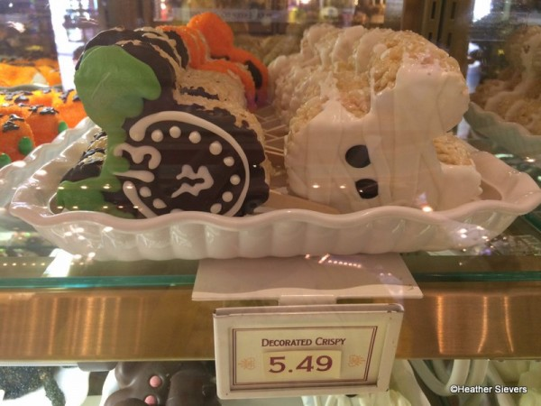 Haunted Mansion Clock & Mickey Mummy Crispy Treats