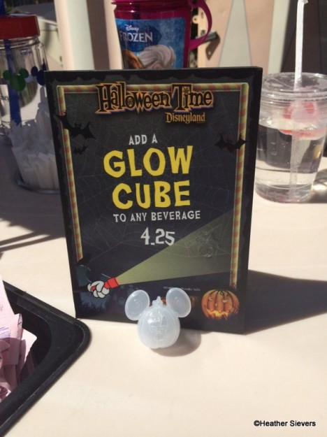 Mickey Pumpkin Glow Cube at the Small World Lemonade Cart