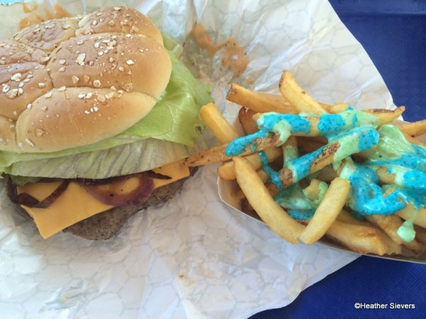 Monster U Style Burger with Fries