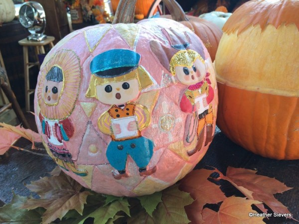 Mary Blair Inspired Small World Pumpkin