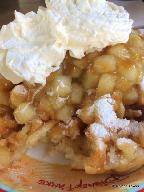 Caramel Apple Funnel Cake Close Up