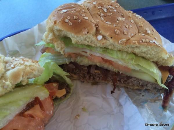 Monster U Burger Close Up
