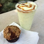 Dining in Disneyland: Caramel Apple Smoothie & Pumpkin Muffin from Schmoozies