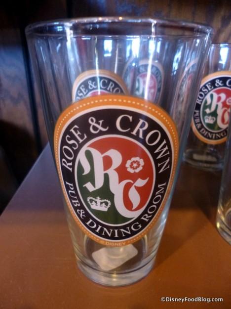 Rose & Crown Pint Glass