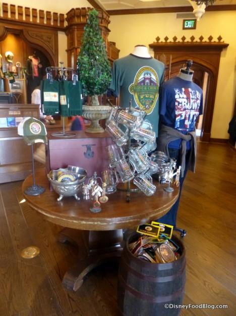 Rose & Crown merchandise display