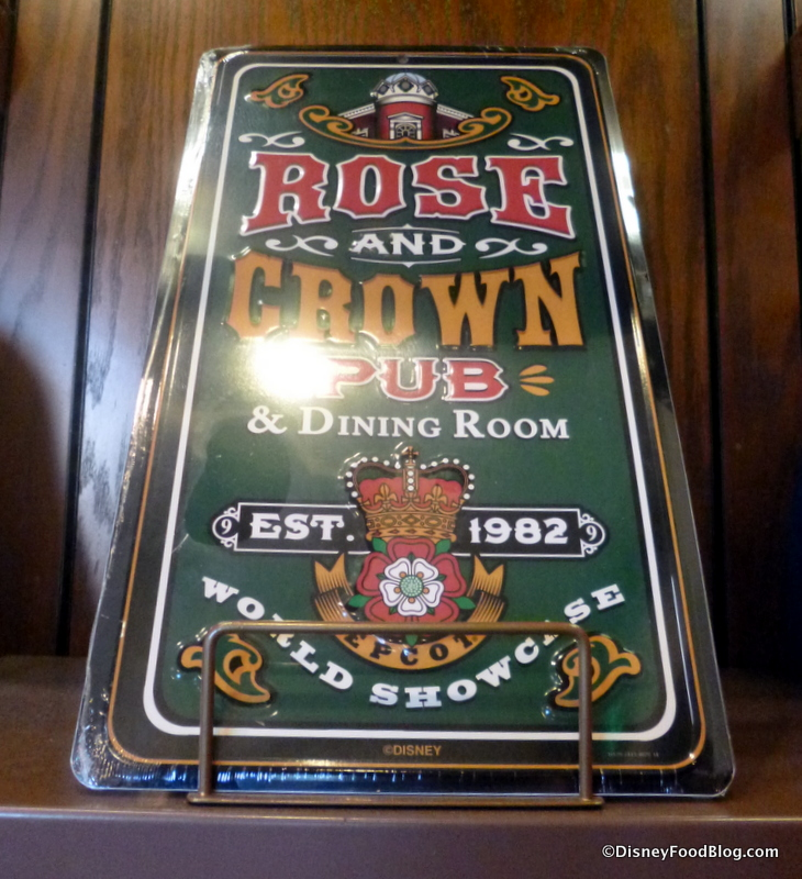spotted! rose & crown pub and dining room merchandise in epcot's