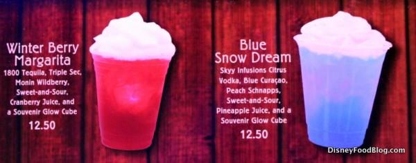 Winter Berry Margarita and Blue Snow Dream