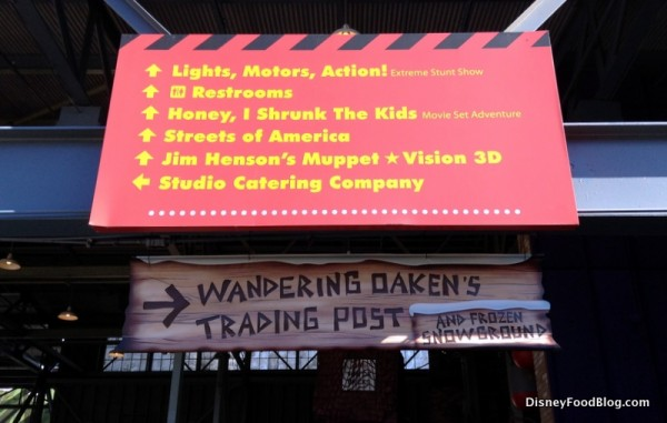 Sign to Wandering Oaken's Trading Post