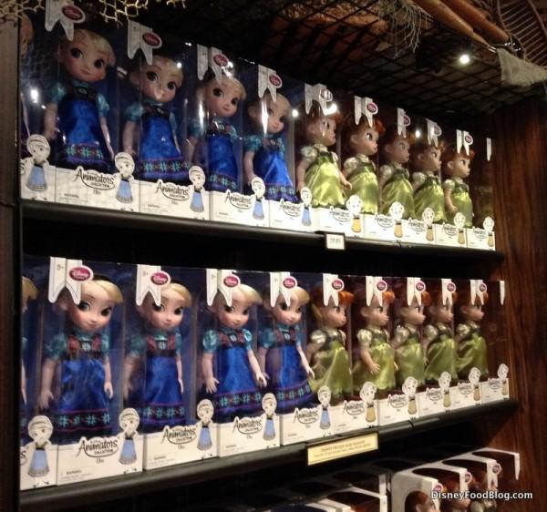 Elsa and Anna dolls