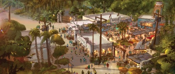 Africa Marketplace Concept Art, Courtesy WDWMagic.com
