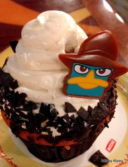 Agent P Cherry Chocolate Cupcake