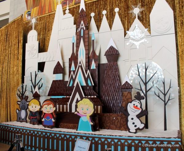 Frozen Gingerbread Display