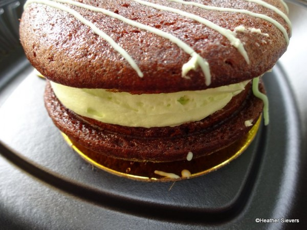 Chocolate Mint Whoopie Pie Side View