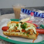 Dining in Disneyland: Big Hero 6 Teriyaki Street Dog & Coconut Milk Tea from Award Wieners