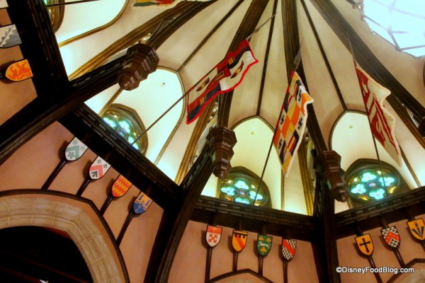 Vaulted Ceiling at Cinderella's Royal Table