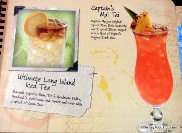 Ultimate Long Island Iced Tea and Captain's Mai Tai