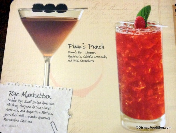 Pimm's Punch and Rye Manhattan