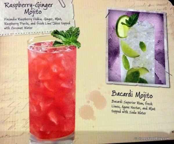 Raspberry Ginger Mojito and Bacardi Mojito