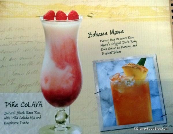 Pina CoLAVA and Bahama Mama
