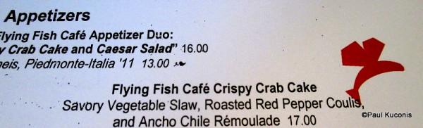 Flying Fish Café Crispy Crab Cake Menu Item