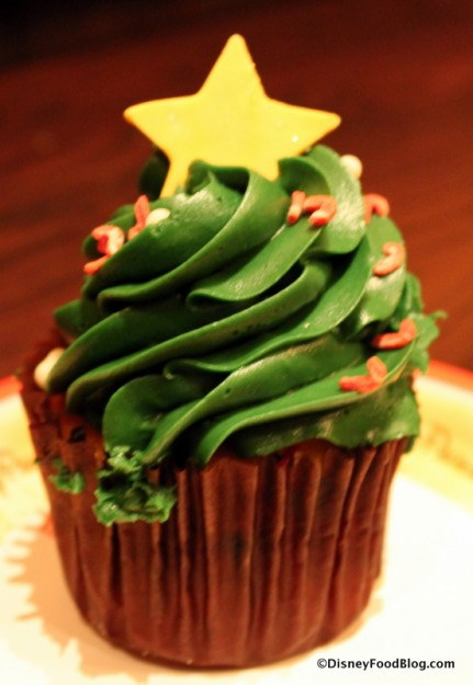 Holiday cupcake at Gaston's Tavern