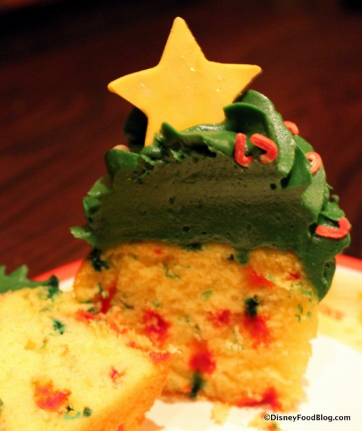 Holiday cupcake cross-section