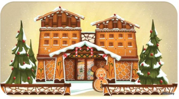 Artistic Rendition of Gingerbread Display