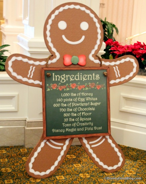 Gingerbread House ingredients