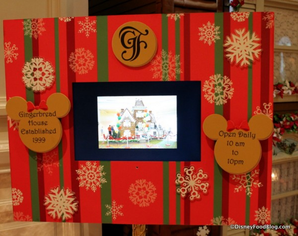 Grand Floridian Gingerbread House operating hours