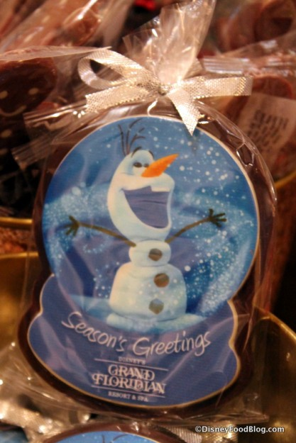 Olaf Dark Chocolate Snow Globe Ornament