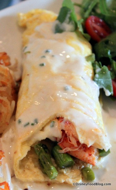 Lobster Omelet -- Inside