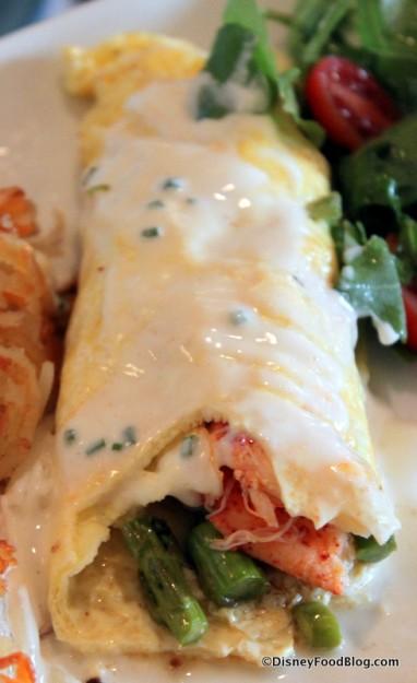 Lobster Omelet -- Inside