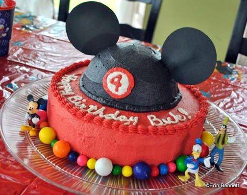 Mickey Ears Cake