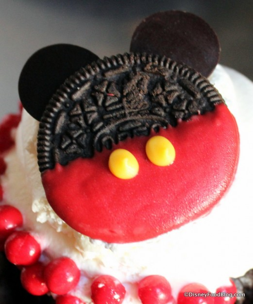 Mickey Oreo Cupcake -- Up Close
