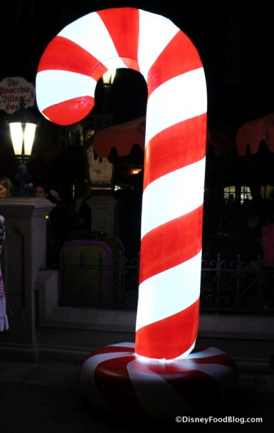 Holiday Treat Station candy cane marker