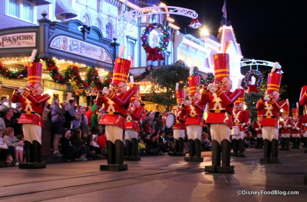 Toy Soldiers During the Once Upon a Christmastime Parade