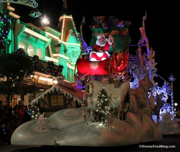 Santa Claus in the Once Upon a Christmastime Parade