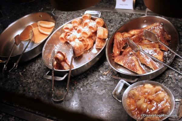 Pancakes, Mini Waffles, French Toast