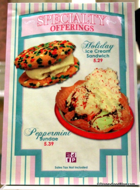 Main Street Ice Cream specialty snacks
